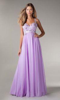 beautiful prom dress, lavender prom dress, chiffon prom ...