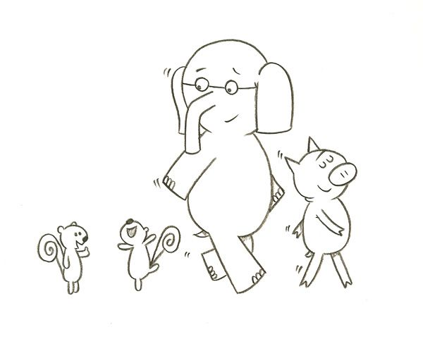 Mo Willems Elephant And Piggie Coloring Pages Sketch