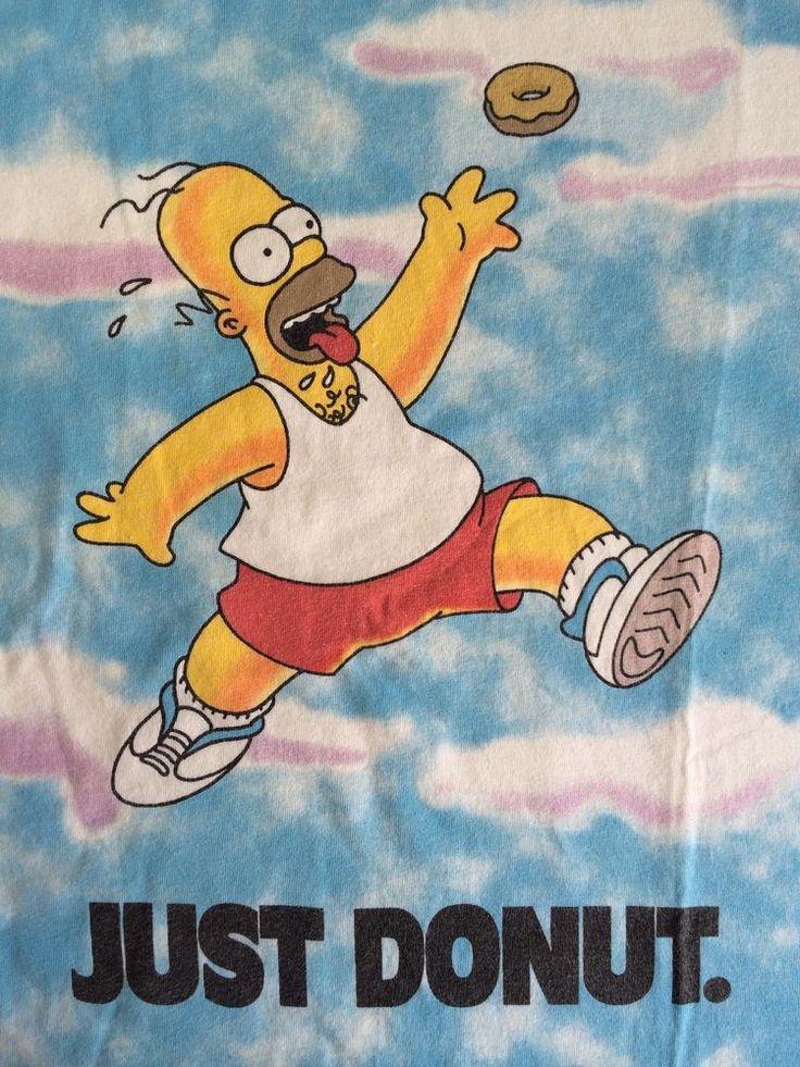 Desantis Shirt HOMER SIMPSON 1996 Just Donut NIKE Air Jordan Matt Groening  Donuts Jordans and