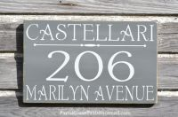 Custom House Numbers Sign, Address Plaque, Large Outdoor ...