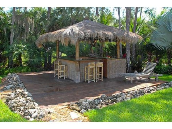 tiki bar in backyard