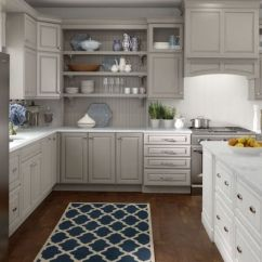 Flat Front Kitchen Cabinets Outdoor Kitchens Las Vegas Lowe's Medallion | Wall And Base Cabinetry Shown ...