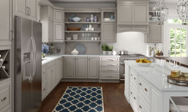 white kitchen cabinets lowes rooms to go islands lowe's medallion | wall and base cabinetry shown ...