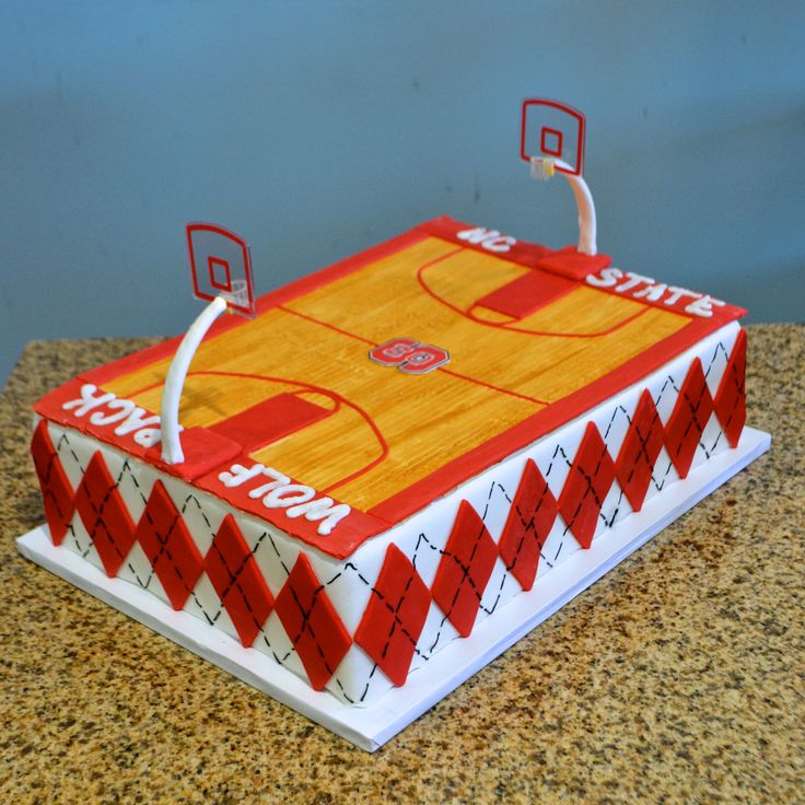 For An NC State Wolfpack Grooms Cake This Basketball