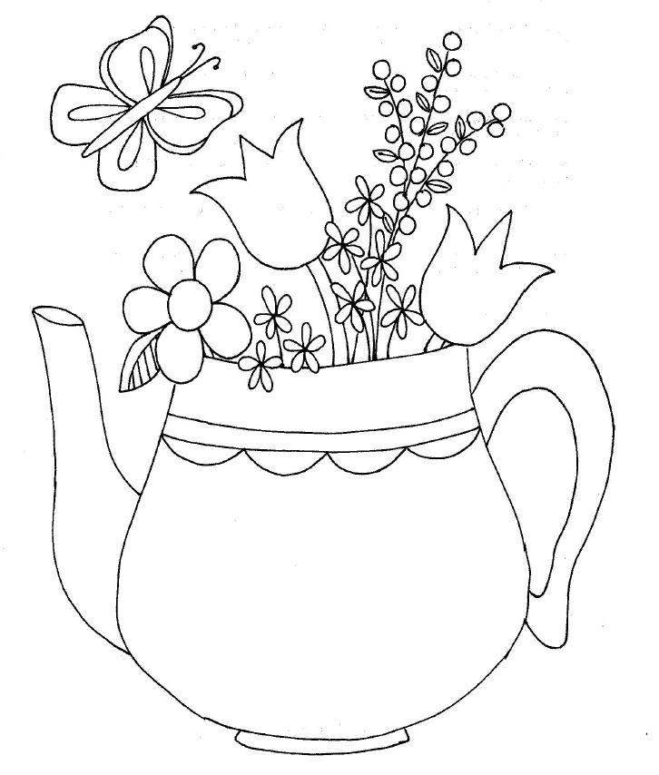 274 best images about Embroidery Cups/Teapots on Pinterest