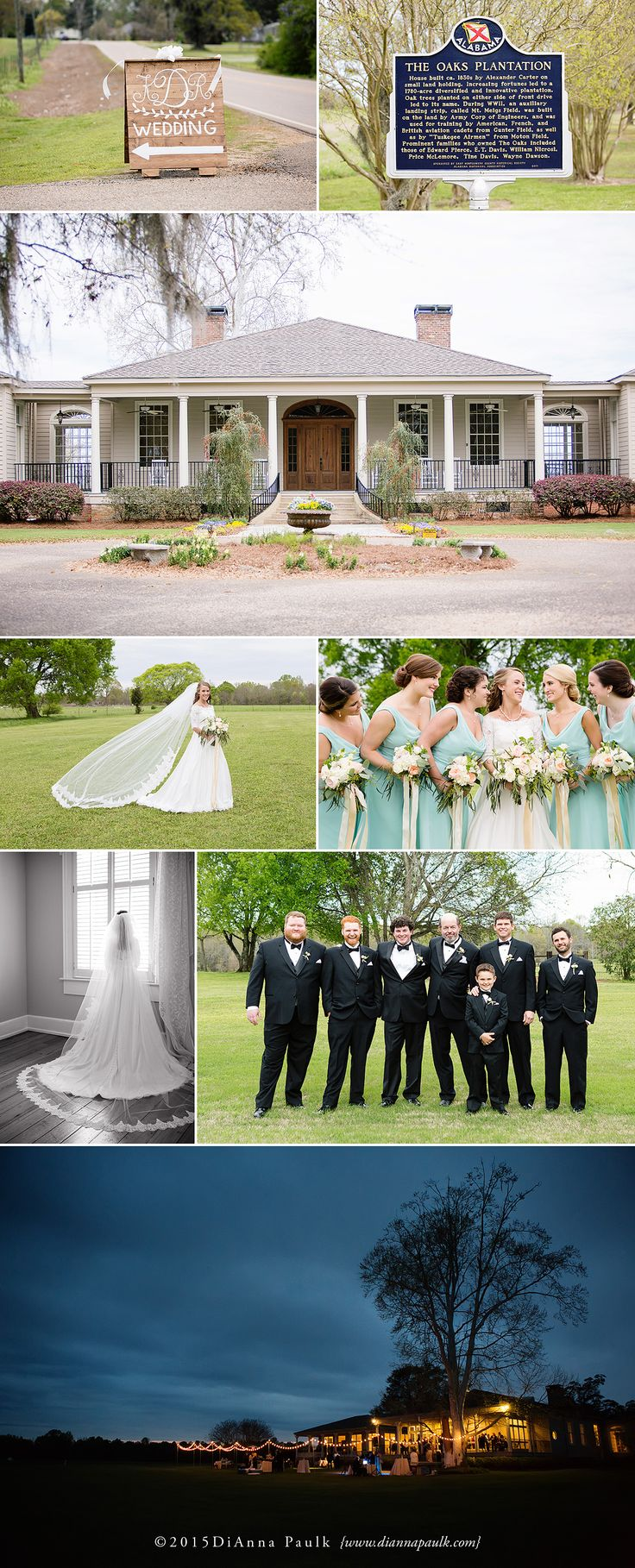 Wedding  Reception Venue The Oaks Plantation in Pike Road AL Photography by DiAnna Paulk a