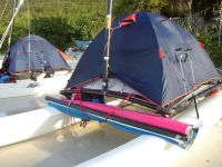 A Hobie with a tent is a Hobie high and dry (and probably ...