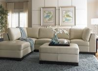 havertys sectional sofa | This cream leather sofa looks ...