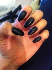 stiletto nails matte black