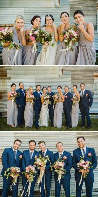 Navy Blue Bridesmaid Dresses With Grey Suits - Wedding ...