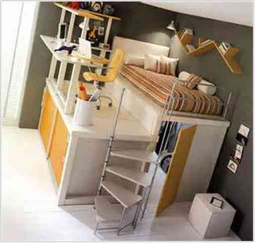 Loft Bed With Walk In Closet Underneath For The Home