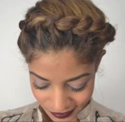 goddess braids natural hair style