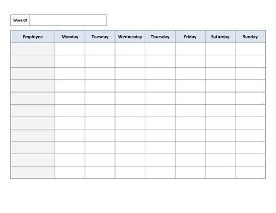4 work schedule maker