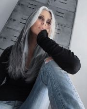 gray hair highlights ideas