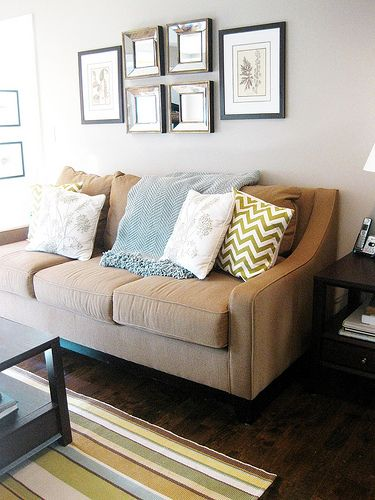 Loveseat And Tan Couch