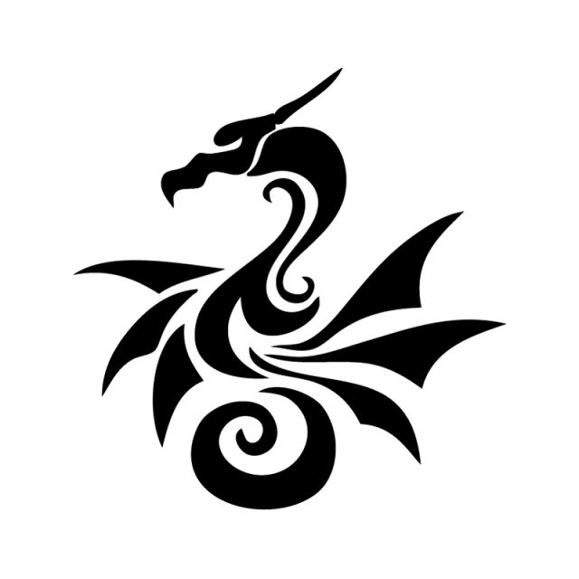 17 Best images about Dragon Stencil designs on Pinterest