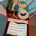 Card in a box showing the nativity scene card in a box ideas