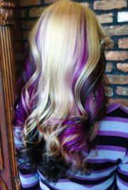 purple streaks ideas