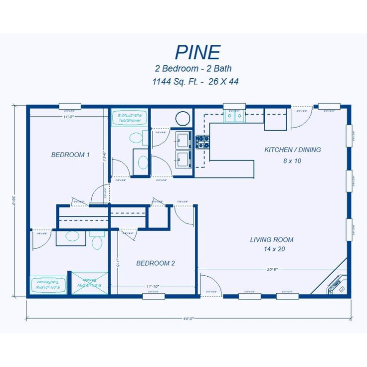 1000 ideas about 2 Bedroom House Plans on Pinterest