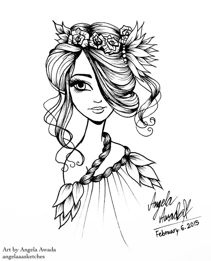 1000+ images about Coloring pages (portraits) for grown