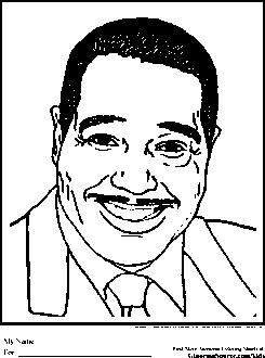 Duke Ellington Coloring Pages Black History Month