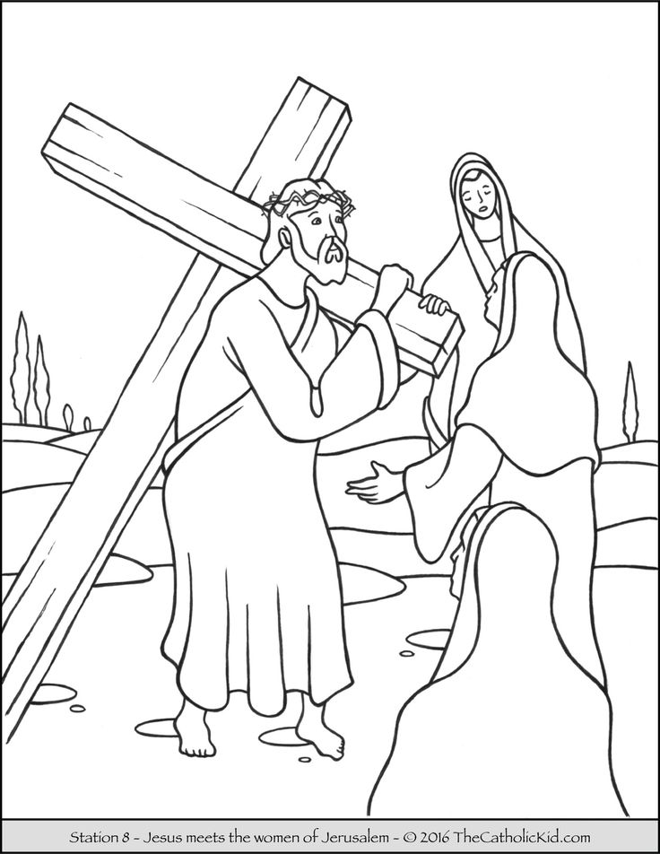 17 Best images about Stations of the Cross Coloring Pages