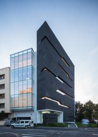 Contemporary Two Story Office Building Elevations | Joy ...