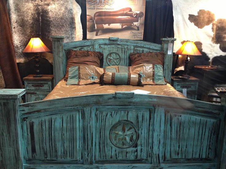 Turquoise Rustic Bed Frames Things To Build Pinterest
