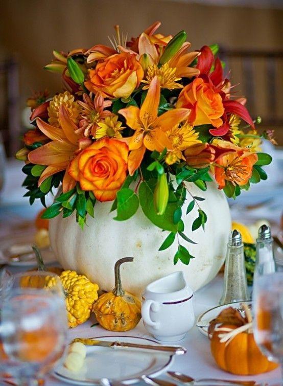 25 Best Ideas About Pumpkin Floral Arrangements On