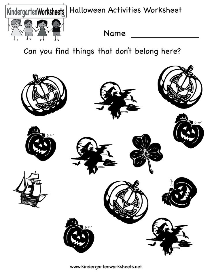 17 Best images about Free Halloween Worksheets on