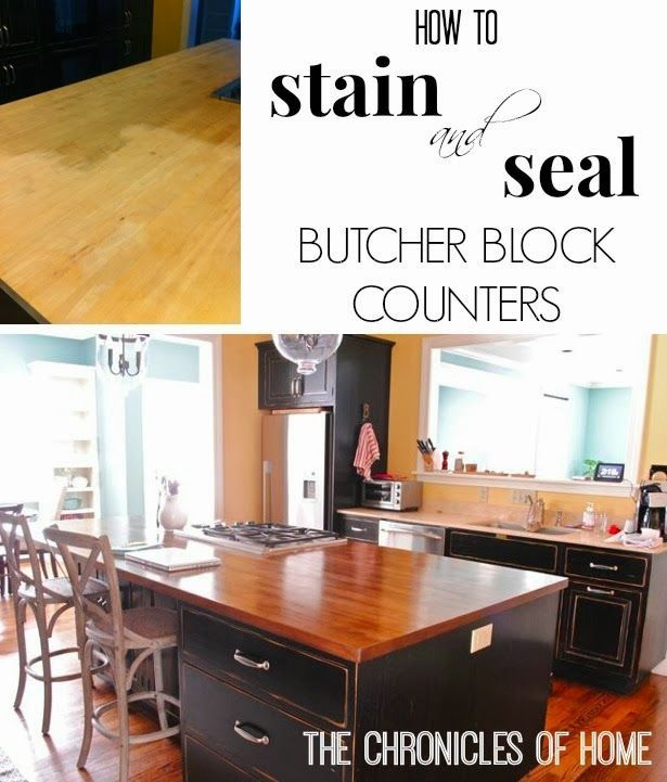 How To Stain and Seal Butcher Block Counters  Stains