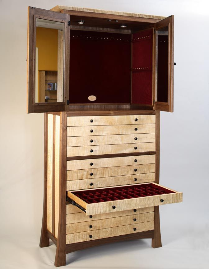 Wooden Jewelry Cabinet Plans  WoodWorking Projects  Plans