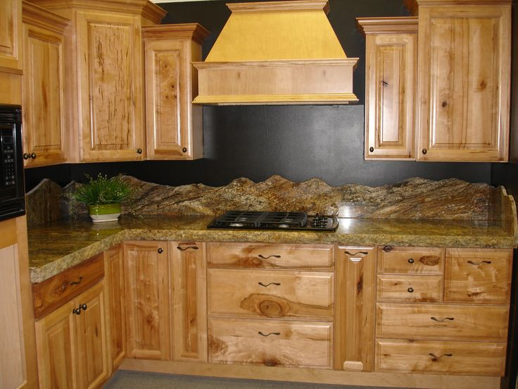 dark wood furniture living room decorating ideas modern leather sets backsplash mountain silhouette granite counter tops and ...