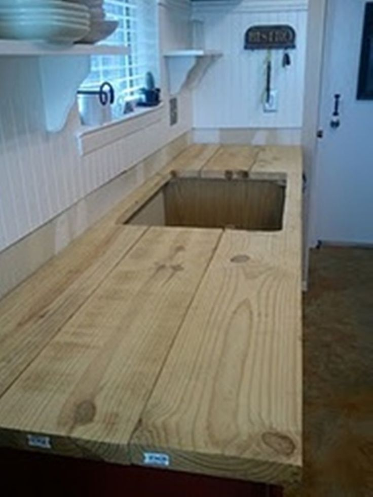 build your own rustic countertop  For the Home