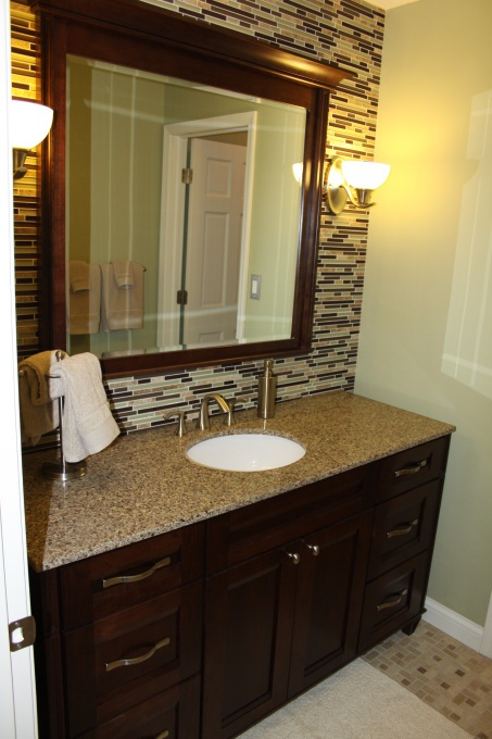 17 Best images about Tile work behind bathroom mirror on Pinterest  The mirror Vanities and Tile