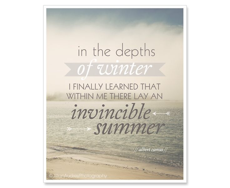 Invincible Summer Quote Print – Beach Photography 8×10  – Ocean Typography Print