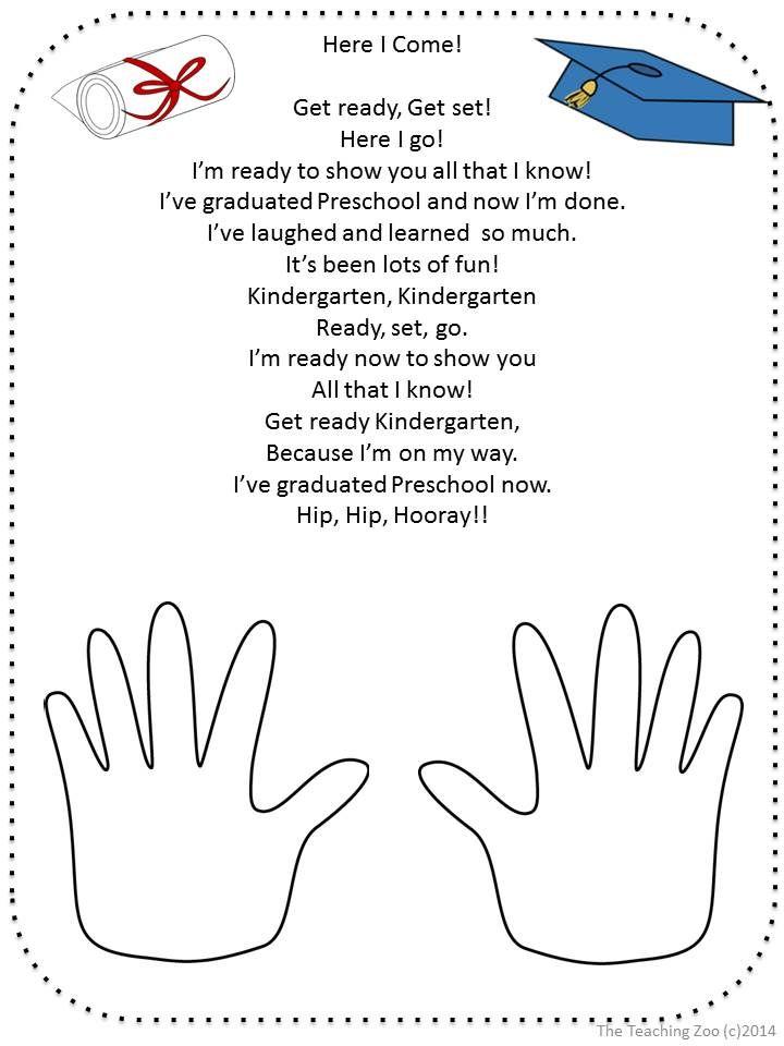 Kindergarten Graduation Poems To Parents Just B Cause