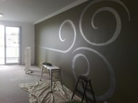 Metallic Swirl Grey Room | Things for My Wall | Pinterest ...