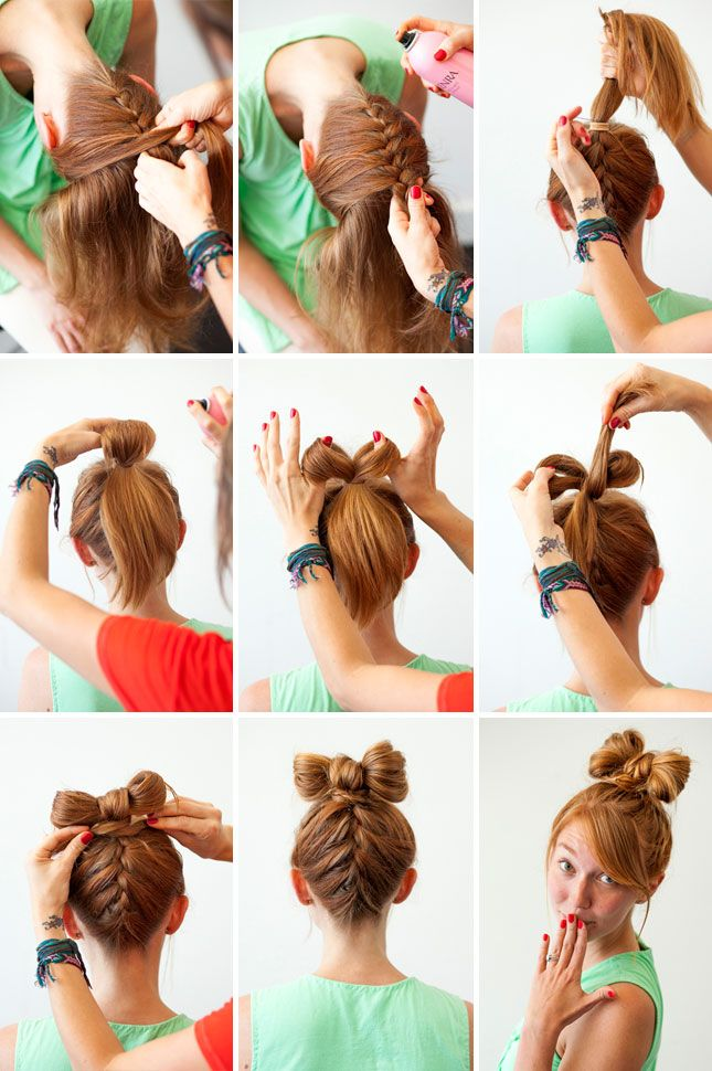 25 Best Ideas About Hair Bow Bun On Pinterest Bow Buns Bow Bun