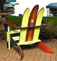 Vintage Cypress Gardens water ski adirondack chair...back ...