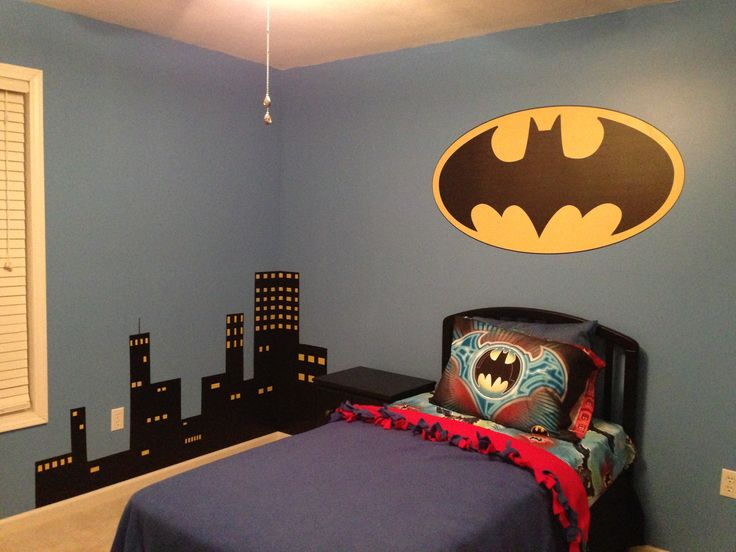 Cityscape for my sons batman room  DIY  Pinterest