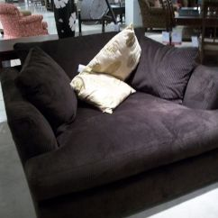 Sectional Sofa With Chaise Lounge And Recliner Resin Wicker Patio Set Big Comfy Oversized Armchair Where You Can Snuggle Up ...