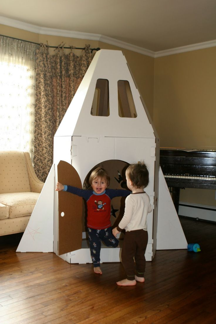 How to Make Cardboard Spaceship  Cardboard Playhouses by Crafty Kids Review  Giveaway  deb
