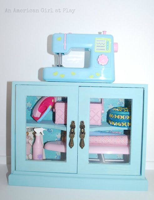 An American Girl At Play Sewing Cabinet Sewing Machine