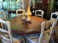 french country kitchen table round