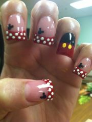 mickey mouse nails design nail