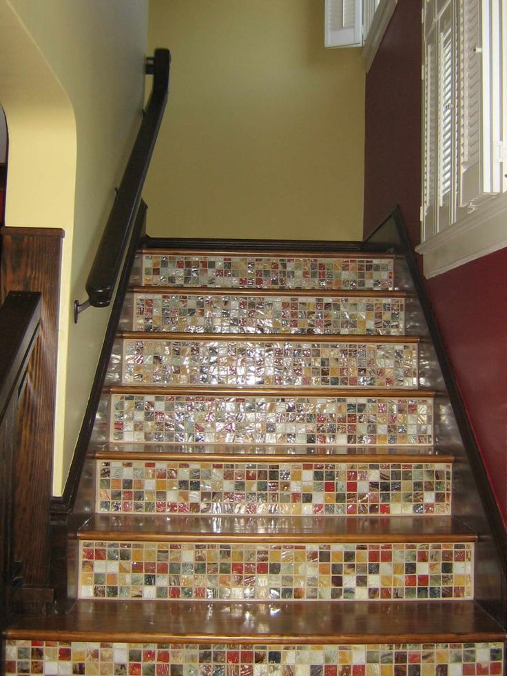 Tile and wood staircase