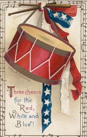 Patriotic Drum Free Vintage Images For Veterans Day Card