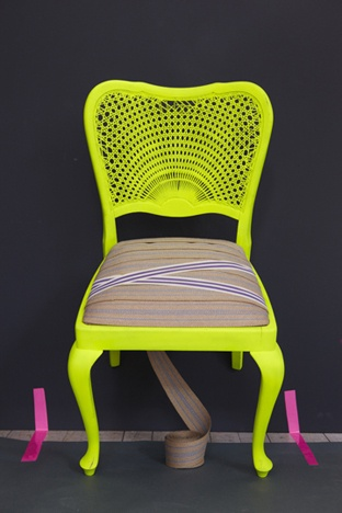 old fold up rocking chair stokke tripp trapp spray paint some thrift store finds neon colors... but i'd rather see a black or white cushion ...