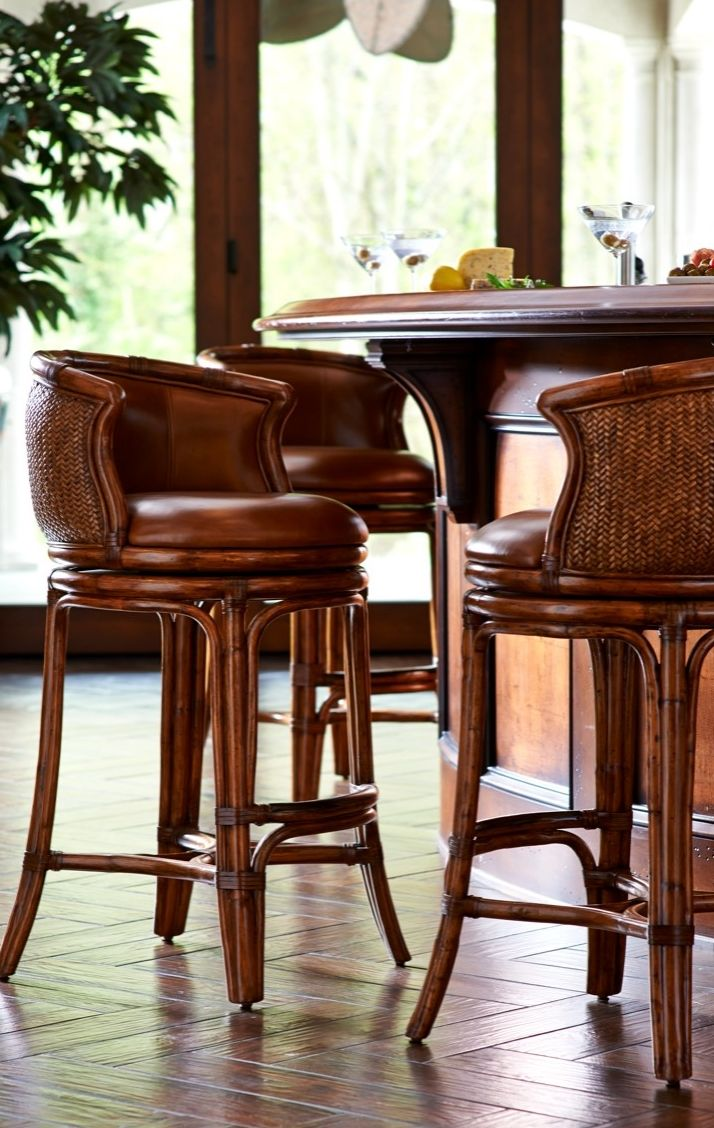 Bali Woven Swivel Bar Height Bar Stool 3012  Bar Bar
